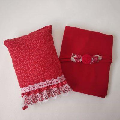 10_red_wine_lace_pillow_wrap_tieback_setfor_newborn_baby