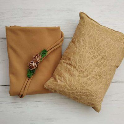7_beige_lace_pillow_wrap_tieback_setfor_newborn_baby