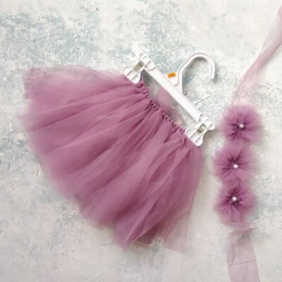 lilac tutu skirt and tie back top1