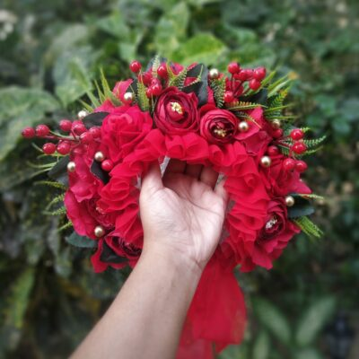 floral bonnet for baby girl
