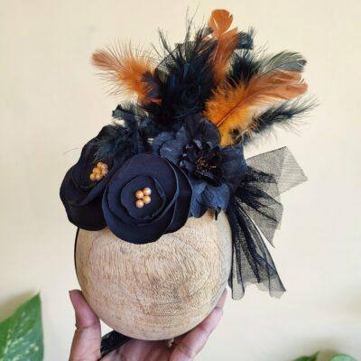 black fascinator hat for kids